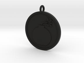 Bomb Pendant in Black Natural Versatile Plastic