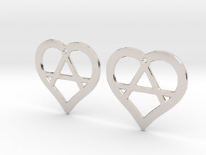 The Wild Hearts (precious metal earrings) in Platinum