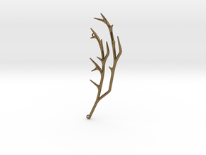 Delicate Branches Pendant in Natural Bronze