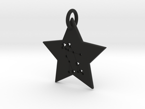 Gemini Constellation Pendant in Black Natural Versatile Plastic