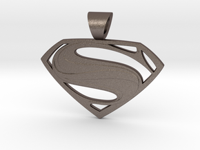 Superman pendant in Stainless Steel