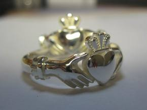 Claddagh classic ring in Natural Silver: 9 / 59