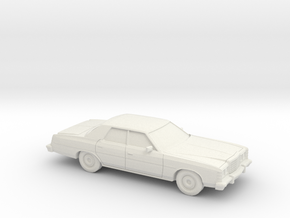 1/64 1977 Ford LTD Sedan in White Natural Versatile Plastic