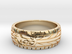 SUBARU ring size 20 mm (US 10) in 14k Gold Plated Brass