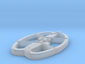 Nel Coil Keyring Keychain in Smooth Fine Detail Plastic