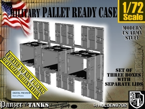 1/72 MM08 Pallet Ready Case Set001 in Smooth Fine Detail Plastic