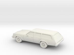 1/64 1973 Chevrolet Chevelle Station Wagon in White Natural Versatile Plastic