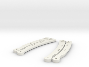 Butterfly Knife Handles in White Natural Versatile Plastic