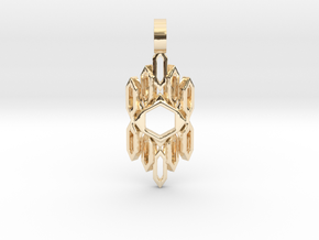 Auric Shield (Curved) in 14K Yellow Gold