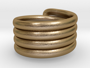 Coiled Ring  Size 10 in Polished Gold Steel
