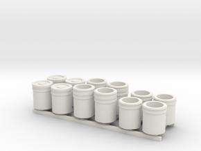 1:50 5 Gallon buckets Pack of Twelve.  in White Natural Versatile Plastic