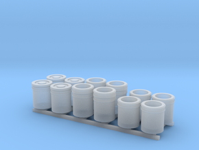 1:50 5 Gallon buckets Pack of Twelve.  in Smooth Fine Detail Plastic