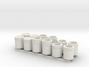 1:48 5 Gallon buckets Pack of Twelve.  in White Natural Versatile Plastic