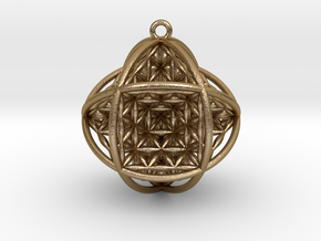 "Ball Of Life V2 1.5"" Pendant in Polished Gold Steel"