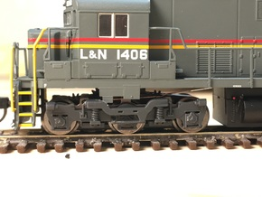 Alco Hi-Adhesion 3-Axle Truck (N) in Black Hi-Def Acrylate