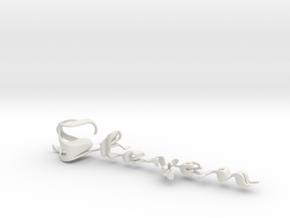 3dWordFlip: Steven/Anneleise in White Natural Versatile Plastic