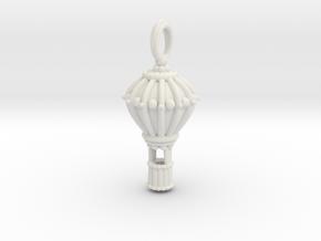 Balloon Keepsake Charm Large in White Natural Versatile Plastic