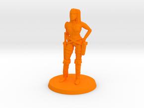 Pirate Lass in Orange Processed Versatile Plastic