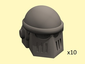 28mm Astrowarrior M2 helmets in Smoothest Fine Detail Plastic