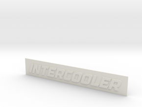 INTERCOOLER Badge in White Natural Versatile Plastic