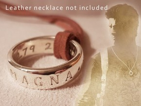 Sir Francis Drake Ring (Uncharted 3) in Polished Silver: 10 / 61.5