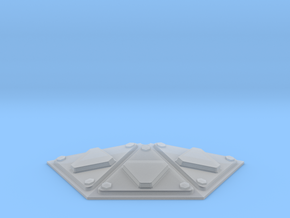 VALLEY FORGE HEXAGON CONVEX HALF in Smooth Fine Detail Plastic