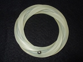 Groovy 3-5 Torus Knot in Smooth Fine Detail Plastic