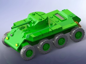 """US T13 """"Trackless Tank"""" Heavy Scout Car 1/144 in Smooth Fine Detail Plastic"""