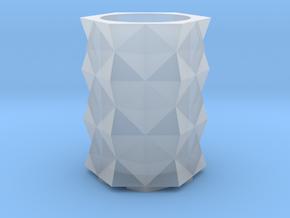 Prism Vase in Smooth Fine Detail Plastic