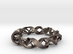 InFusion in Polished Bronzed Silver Steel: Small