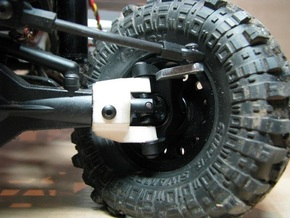 Axial SCX C-hub right side V2 in White Natural Versatile Plastic