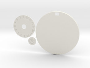 90mm Round Wound Tracking Base in White Natural Versatile Plastic