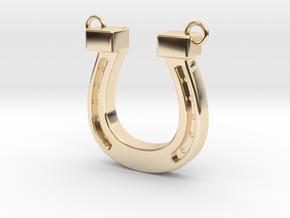horseshoe in 14k Gold Plated Brass: Medium