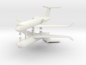1/250 Low Detail G550 Gulfstream (x2) in White Natural Versatile Plastic