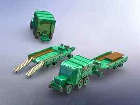 French Laffly S 35 T w. 20t Tank Trailer 1/144 in Smooth Fine Detail Plastic
