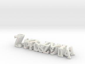 3dWordFlip: Zaproszenia/saytak in White Natural Versatile Plastic