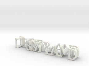3dWordFlip: DEBBY&AND/1-08-2013 in White Natural Versatile Plastic