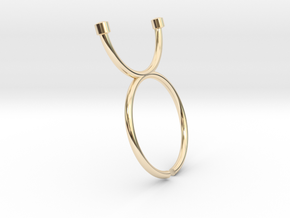 moon Ring in 14K Gold