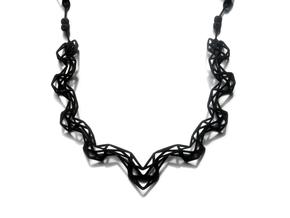 FutureChique Necklace V2 in Black Natural Versatile Plastic