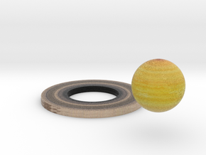 Saturn and  Ring in Full Color Sandstone