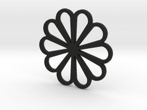 Flower  in Black Natural Versatile Plastic