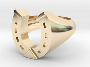 Horses Lovers Ring in 14K Yellow Gold: 7 / 54
