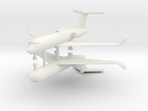 1/285 Low Detail G550 Gulfstream (x2) in White Natural Versatile Plastic