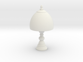 Small Victorian Lamp in White Natural Versatile Plastic