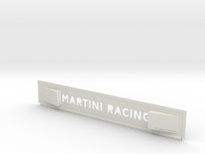 "Lancia Delta 1 ""Martini Racing"" window Shield 1 in White Natural Versatile Plastic"