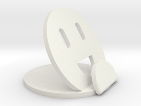 Emoji Holder in White Natural Versatile Plastic