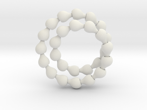 Fat ball jointed necklace (tear links)  in White Natural Versatile Plastic