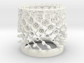 Ascending flowers Bloom zoetrope in White Processed Versatile Plastic