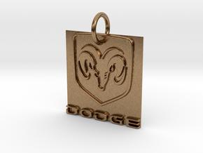 Dodge Pendant in Natural Brass