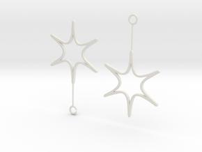 ShapeWays Earrings in White Natural Versatile Plastic